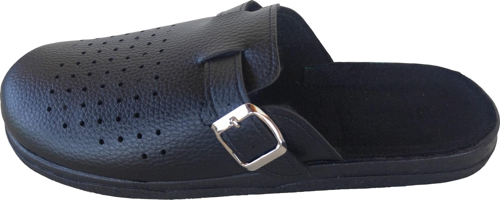 797cae2c1643bf obuwie BHP klapki czarne pantofelek